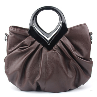 European American luxury leather small monster hair eye fashion show hand bag leather handbags