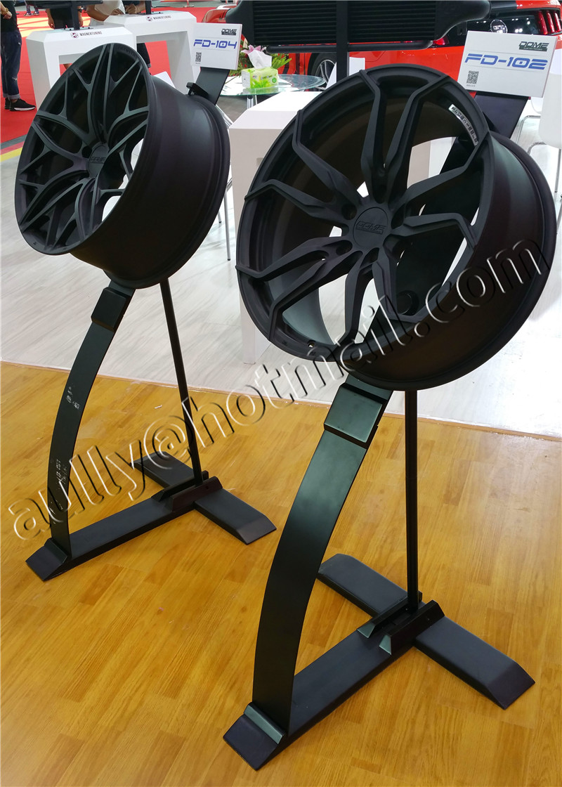 Exhibition Stand Assembly : Wheel display rack stand tire for s store