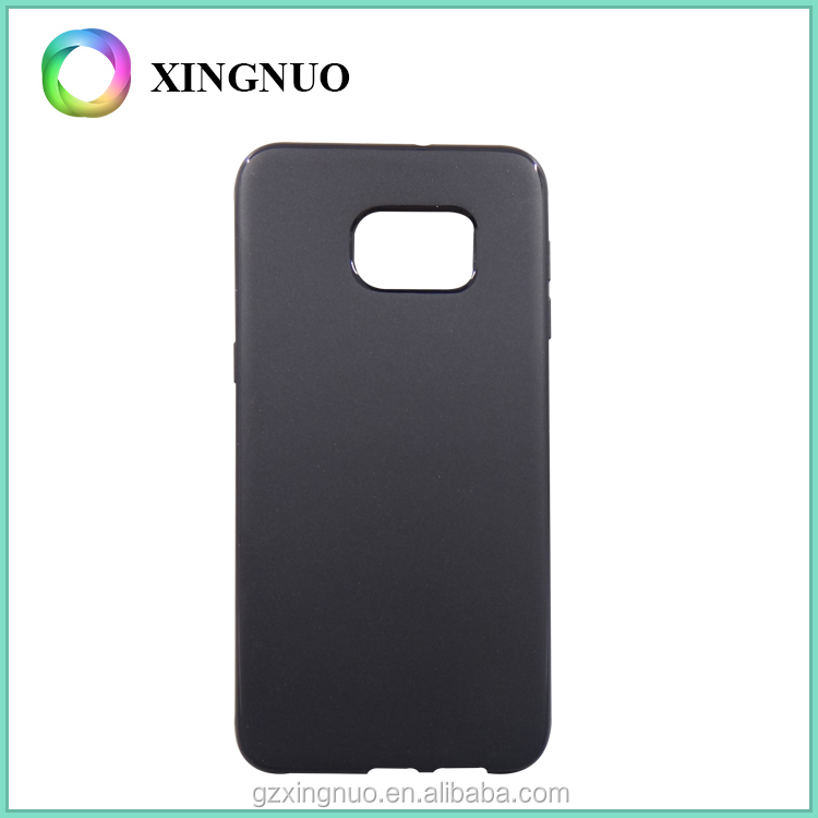 Free Sample Black Color Slim Soft Phone Cover for Samsung Galaxy S6 Edge Plus TPU Case