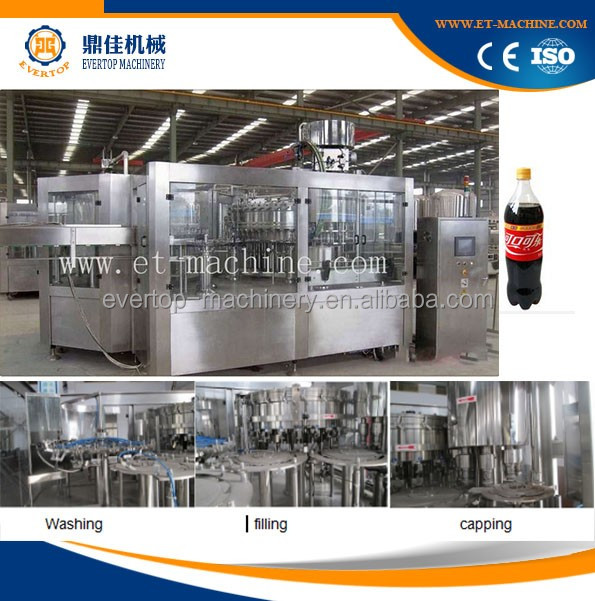 Fully-automatic soft drink filling machine/carbonated drink company/soft drink making machines