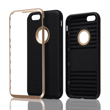 C&T Brushed Armor Rugged Bumper Wire Drawing Cover Flexible Rubber Shield Soft Case for iPhone 6
