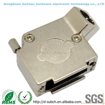 45 degree metal hood for d-sub,VGA 15PIN Connector/3W3 Connector backshells