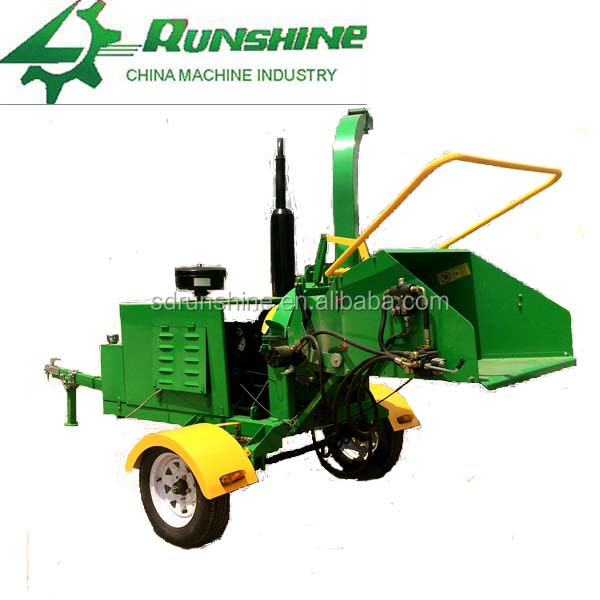 Since 1989 disc 40HP diesel engine wood chipper