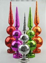 Wholesale Different kinds of colorful lightup mercury glass tree handicraft