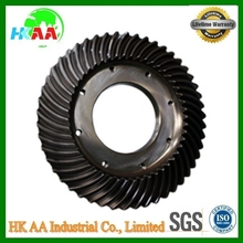 Factory supplier best quality high precision grinding crane helical bevel gear TS 16949 approved bevel gear