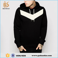 2016 Guangzhou Shandao 65%Cotton 35%Polyester spring casual printed long sleeve pullover black xxxl hoodies for men