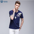 Custom Short Sleeve Printed Flower Man Logo T-shirt