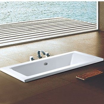Sanitary Wares Acrylic Simple Square Bathtub WTM 02807