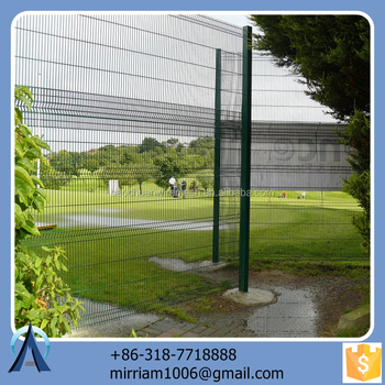 Made in China hot sale Hot dip arched wire mesh fence / 3d powder coated arched wire mesh fence / welded arched wire mesh fence