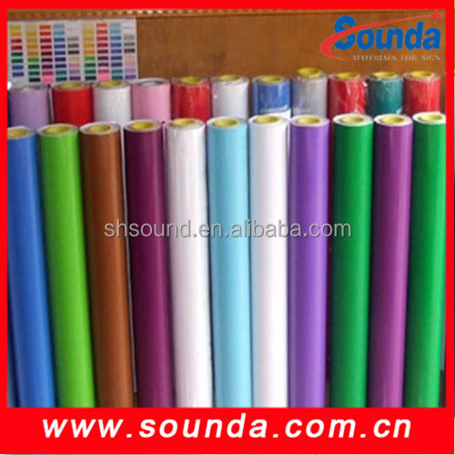 HOT SALE color PVC vinyl film for cutting plotter