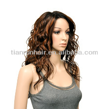 Hot and sexy unprocessed 5a grade curly human hair wigs for black women