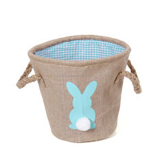 Wentou Hot Sale Rabbit Burlap Easter Buckets