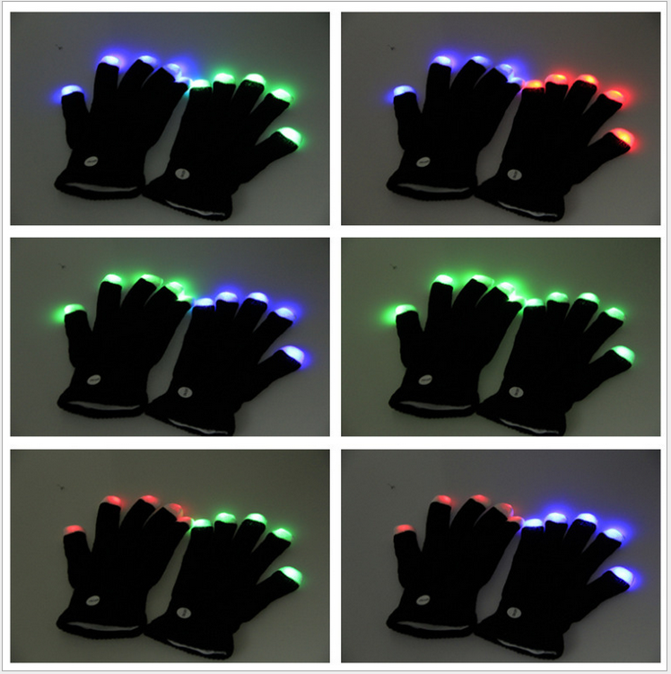 High Quality Flashing LED Gloves as Rave Party Favor Wholesale 2015