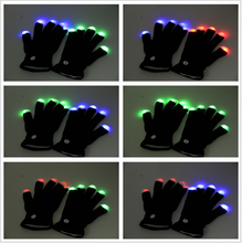 High Quality Flashing LED Gloves as Rave Party Favor Wholesale 2018