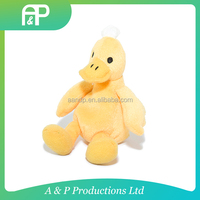 Wholesale best made plush yellow duck toy cute yellow duck plush toy