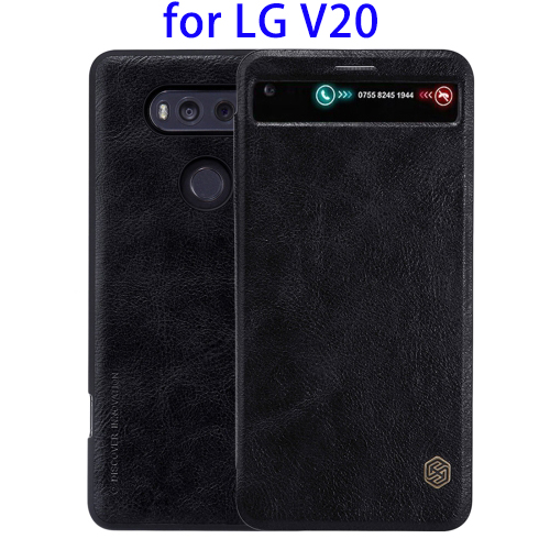 Mobile Phone NILLKIN Flip Leather Wallet Cover Case for LG V20 Case