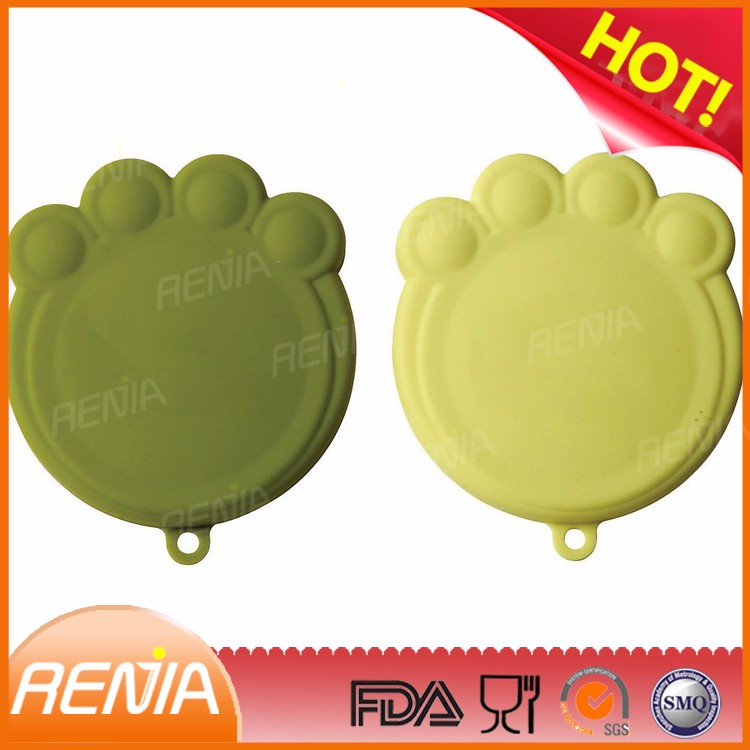 RENJIA tin lid silicone pet food jar cover easy open can lid