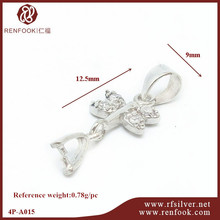 Guangzhou jewellery making supplies 925 silver bail for pendant