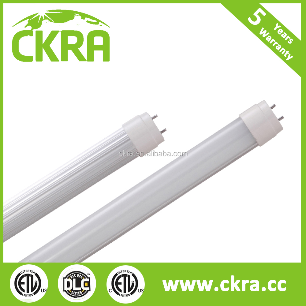 with free lux calculation simulation DLC UL approved LED T8 tube lights pure 4ft 8ft PIR radar occupancy motion sensor
