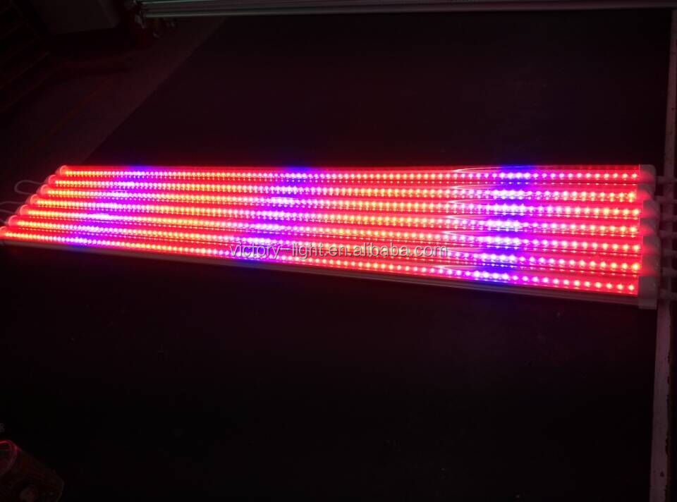 4ft 18W led red blue bulb hydroponic plant grow light lamp for mushroom strawberry lettuce