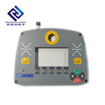 High Quality backlight membrane switch membrane keypad keyboard with clear transparent  window