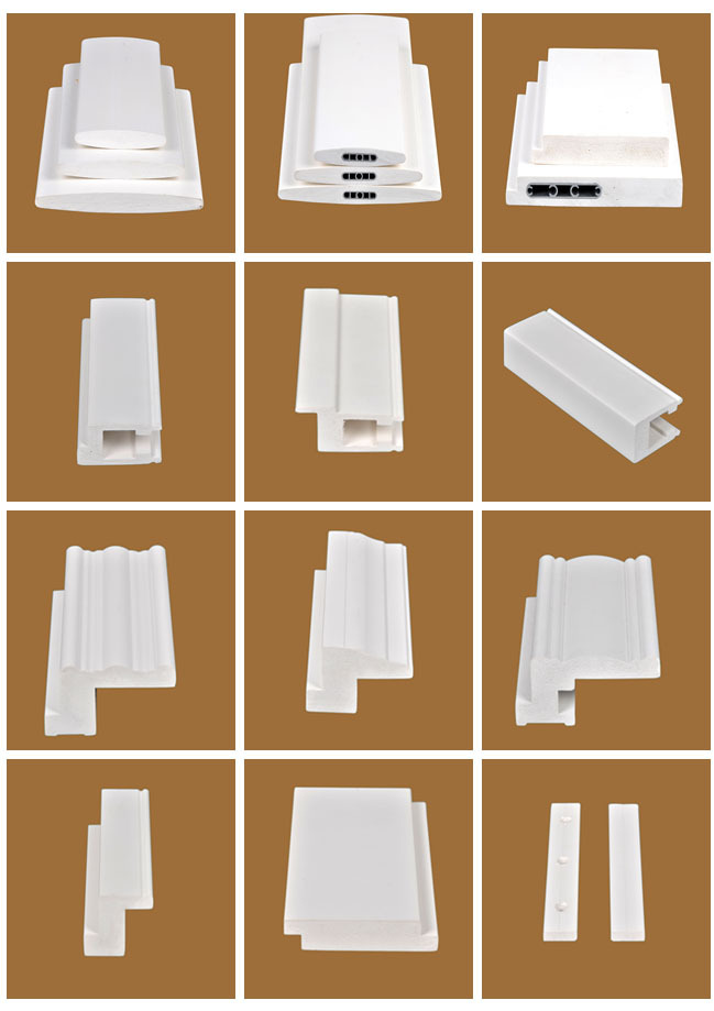White Extrusive Vinyl Shutter Parts with white paint finishing