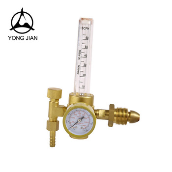 YJ-05A British type CO2 regulator with flowmeter , argon gas pressure regulator price