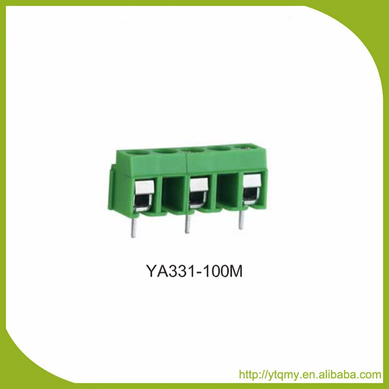 YA321-100 PA66 Ul94v0 Euro PCB Screw Terminal Block Connector Pitch 10.00mm Solid 0.08-1.5mm