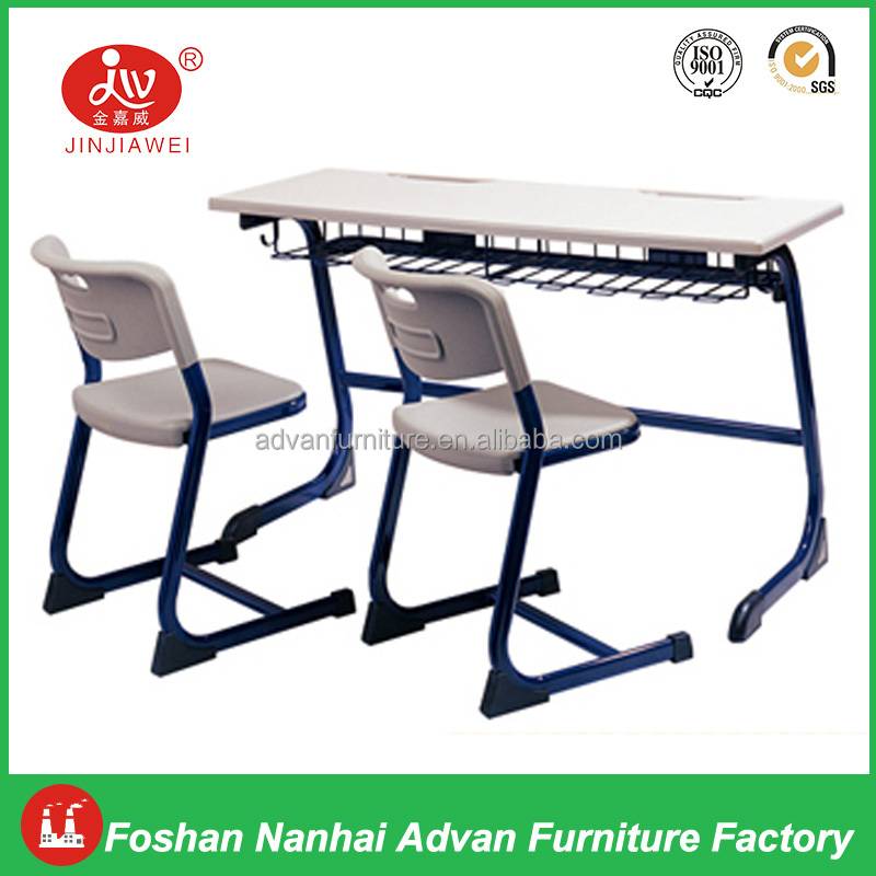 Cheap School Furniture Mozambique Combination for Two Student High Quality Student Table and Chair