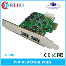 China supplier USB3.0 SATA III 2 Internal 6Gbps Ports PCI-e Controller Card