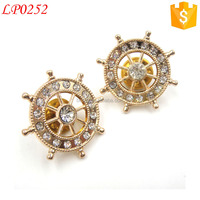wholesale china custom rhinestone blinking star shape metal lapel pin