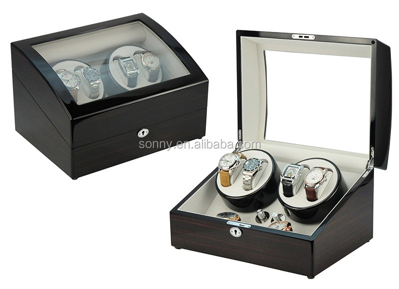 White MDF Lacquered Single Watch Winder Wood Custom