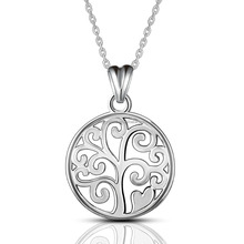 CYD032 Popular Jewelry Life of Tree Chain 925 Sterling Silver Charming Pendant Necklace