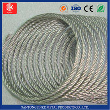 galvanized steel wire rope aircraft cable 7*7