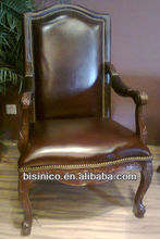 Home office chair,hand carving single chair MOQ:1 PCS (BF00-40084)