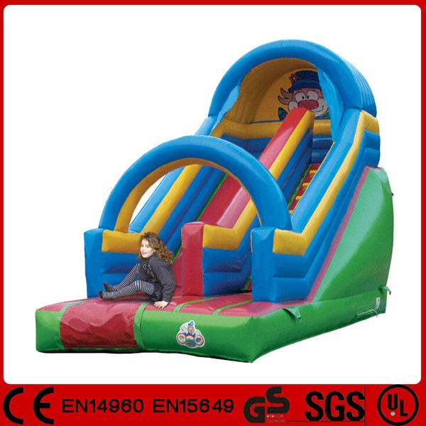 High quality 0.55mm PVC lake inflatable slide for children