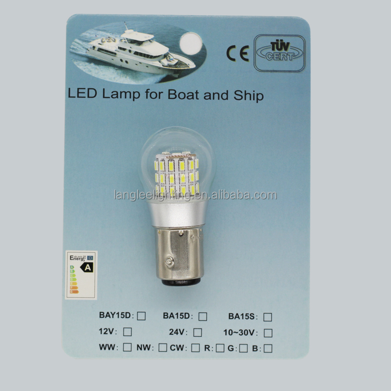 LED Globular Boat Bulb BA15d BAY15d High Lumen Waterproof Glass Cover
