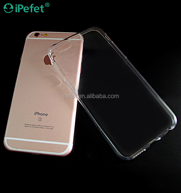 iPefet - Free Sample Soft Flexible Transparent TPU Mobile Phone Case For iPhone 6s