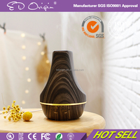 120Ml Electronic Wooden White Aromatic Essential Oil Diffuser Humidifier 7 Color Led Bamboo Wood Grain Parts Aroma Gift Set