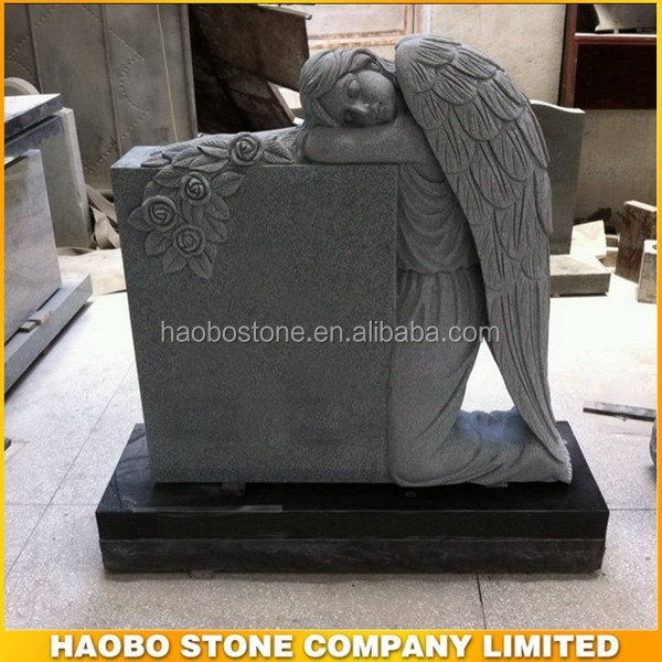 Haobo Hot Sale of Angel Wing Headstone,American Style Headstone