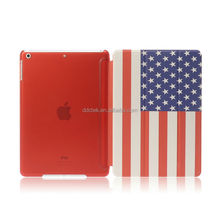US Flag image water paste injection whole PC PU cover for ipad mini case custom