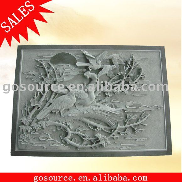 animal stone carving high relief
