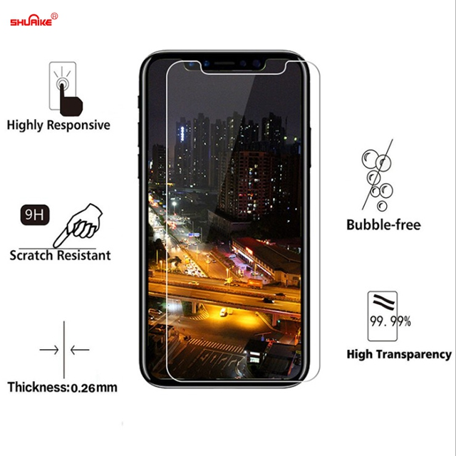 Attention!!newest for iphone X high quality tempered glass screen protector