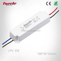 LPV-35E single output voltage AC/DC LED driver waterproof plastic case with CE ROHS KC certification FREE SAMPLE