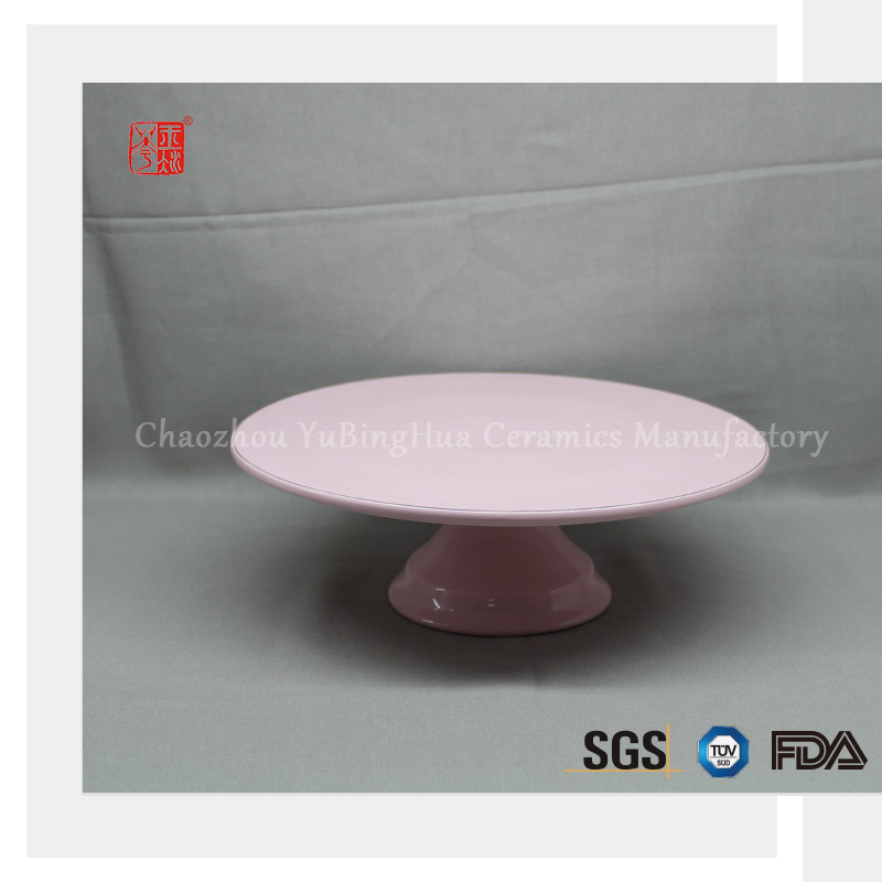 Wholesale factory supply ceramic cake stand for party