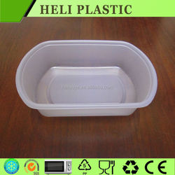 Accept custom order and food grade plastic food container/boxes