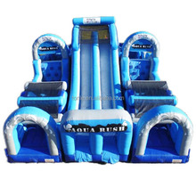 most popular aqua rush obstaqua rush obstacle water slide 5 modules inflatable obstacle course/ obstacle challenge race for sale