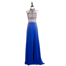 2018 Sexy Girl Latest Halter Sleeveless Dubai Designers Wholesale Sequenced Handwork Beading Evening Dresses
