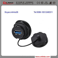 Usb Panel Mount 3.0 XLR Type UL Power Cord with Switch for Panel Usb