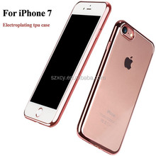 szxcy wholesale tltra thin clear electroplating soft tpu back cover case for iphone 7s